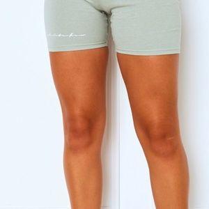 White Fox Boutique Signature Bike Shorts Sage